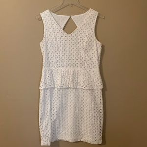 Ellen Tracy White Sundress